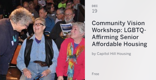 Community Vision Workshop - LGBTQ-Affirming Senior Affordable Housing