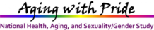 Aging with Pride National Health, Aging, and Sexuality/Gender Study logo