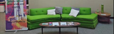 photo of GENPride lounge area